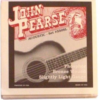 John Pearse Acoustic Set #550SL Phosphor Bronze Wound Slightly Light Gauge