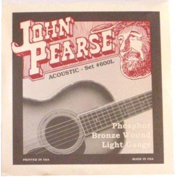 John Pearse Acoustic Set #600L Phosphor Bronze Wound Light Gauge