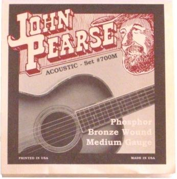John Pearse Acoustic Set #700M Phosphor Bronze Wound Medium Gauge