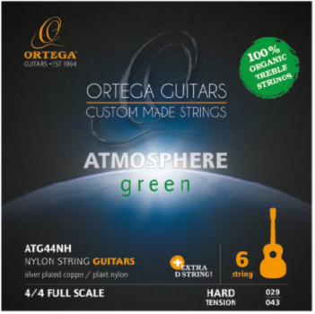 Ortega Atmosphere Green ATG44NH Hard Tension - extra D-Saite