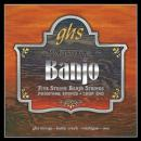 GHS Professional Five String Banjo Saiten PF150 light Phosphor Bronze Loop End